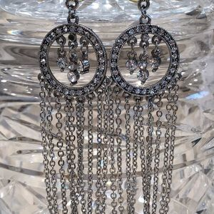 Really pretty crystal embellished earrings